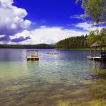 Blue lakes Golubie Osera Grumbinenti See Glublya Belarus