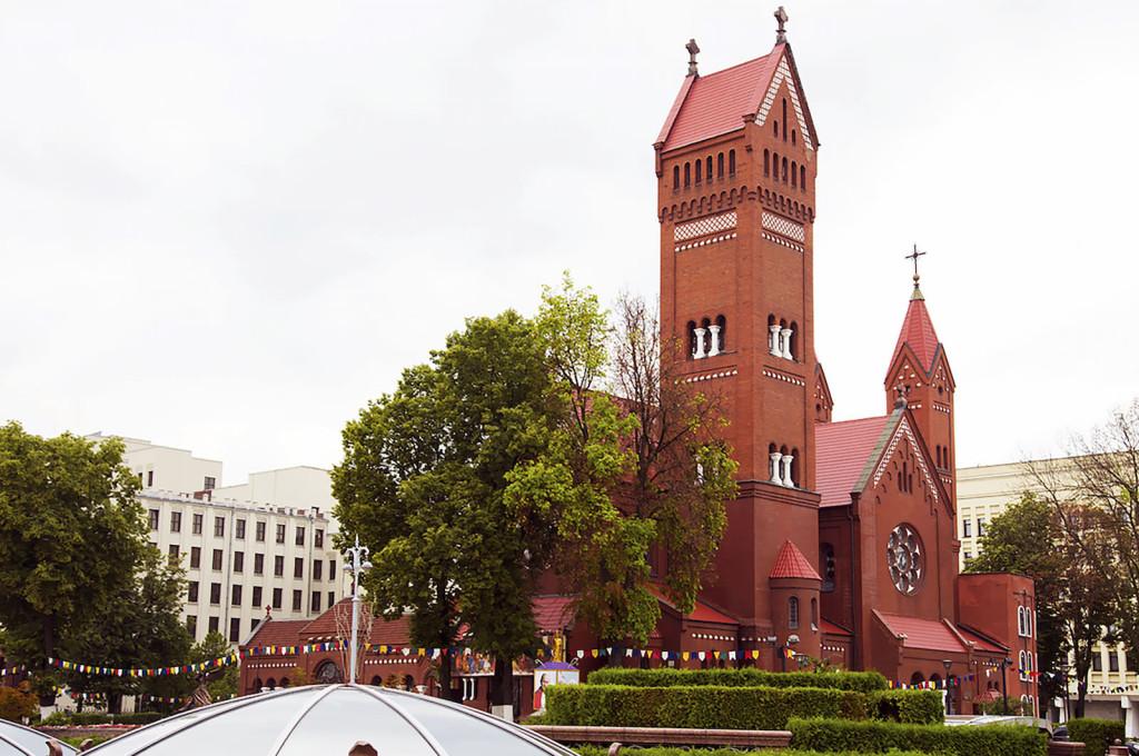 Red Church in Minsk Belarus