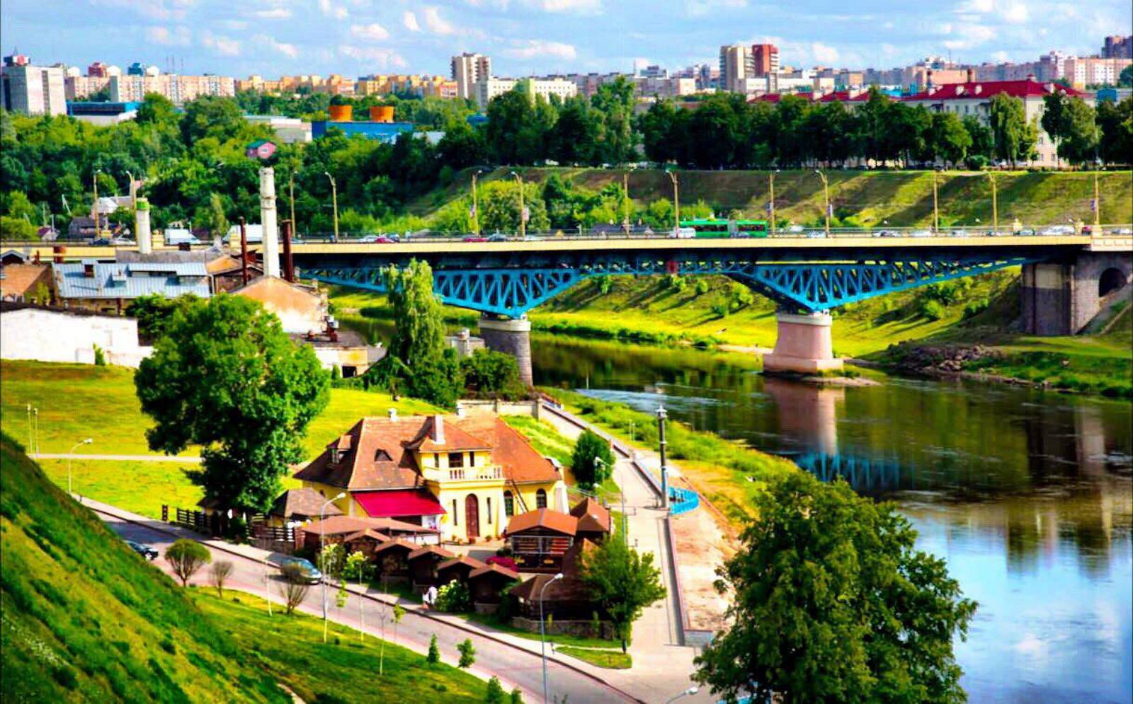 Bridge over the Neman Nyoman Niemen Belarus