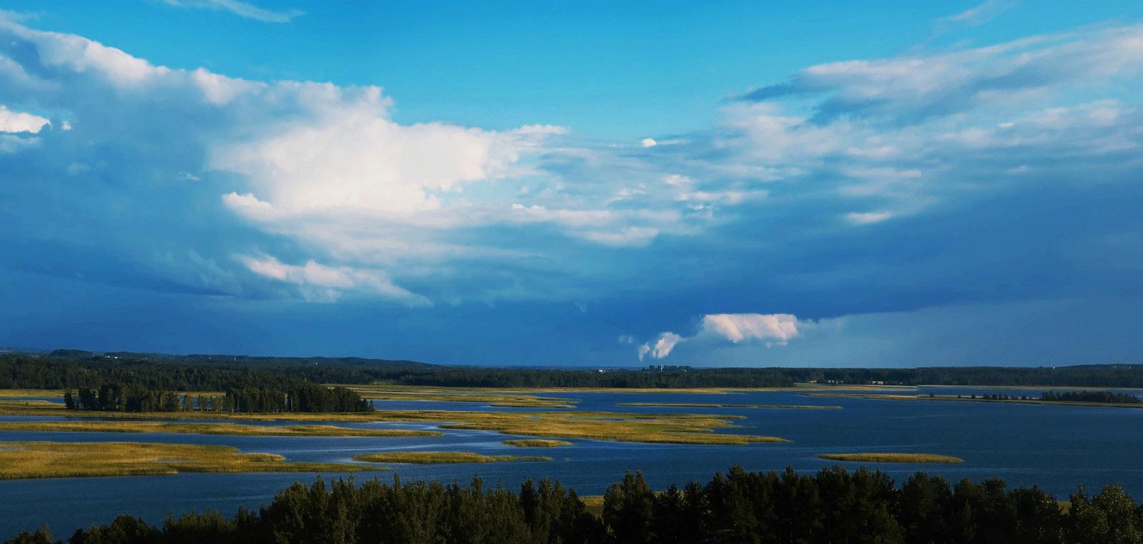 Braslau lakes viewpoint Mayak Belarus