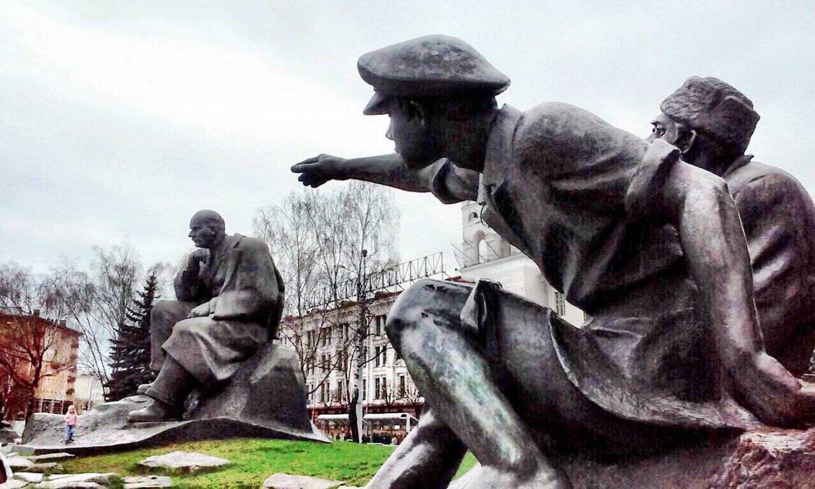 Monument toYacub Jakub Kolas Minsk Belarus