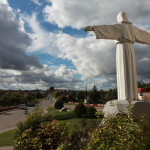 Statue of Jesus in Ivye Belarus