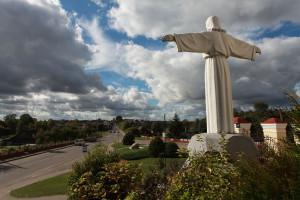 Statue of Jesus in Ivye Belarus