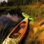 Canoes on the Berezina Belarus