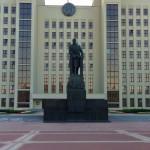 Lenin Lenin monument in front of the government building Minsk Belarus