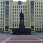 Lenin Lenin monument in front of the government building Minsk Belarus