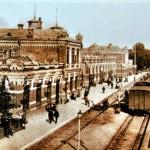 Minsk central railway station 1873 Belarus