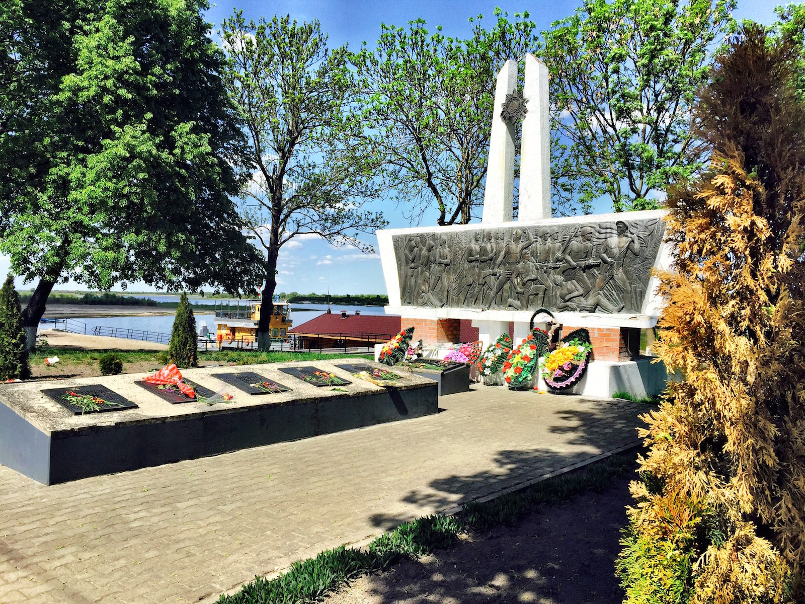 Soldier's memorial in Turov Turau Belarus