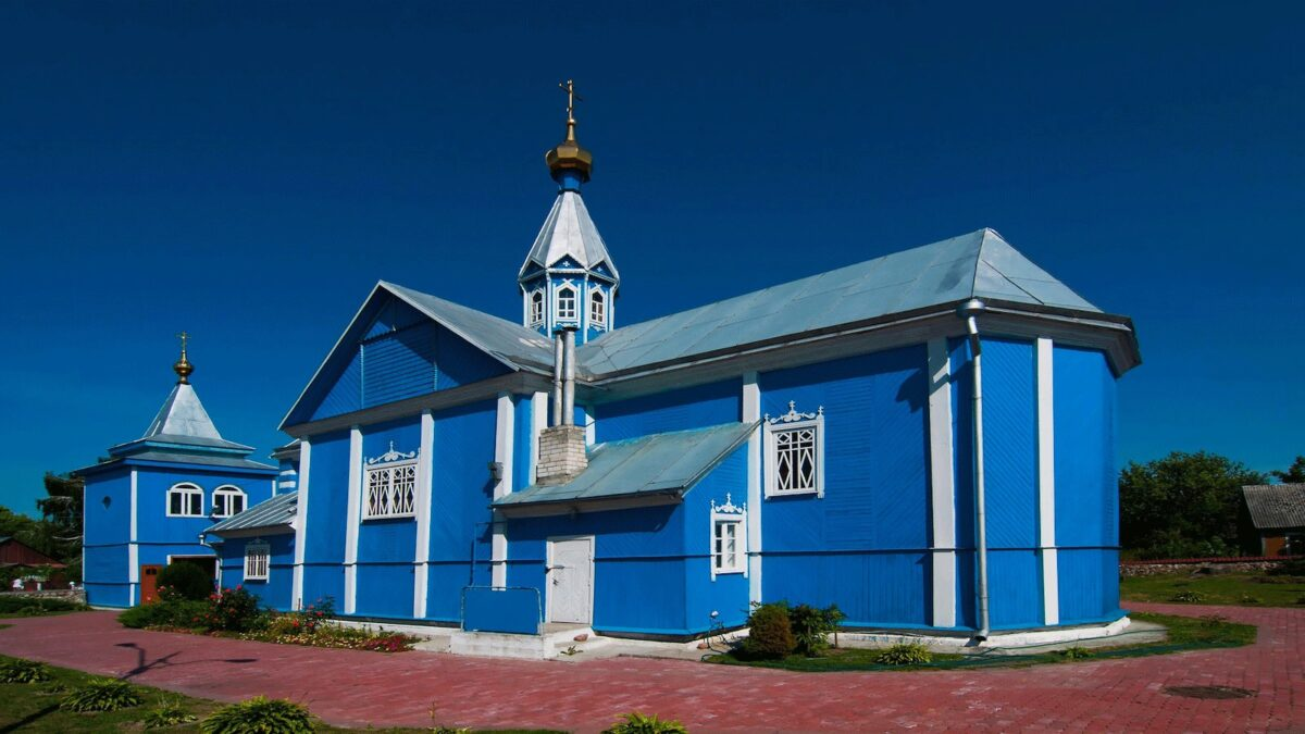 Orthodox wooden church Belarus