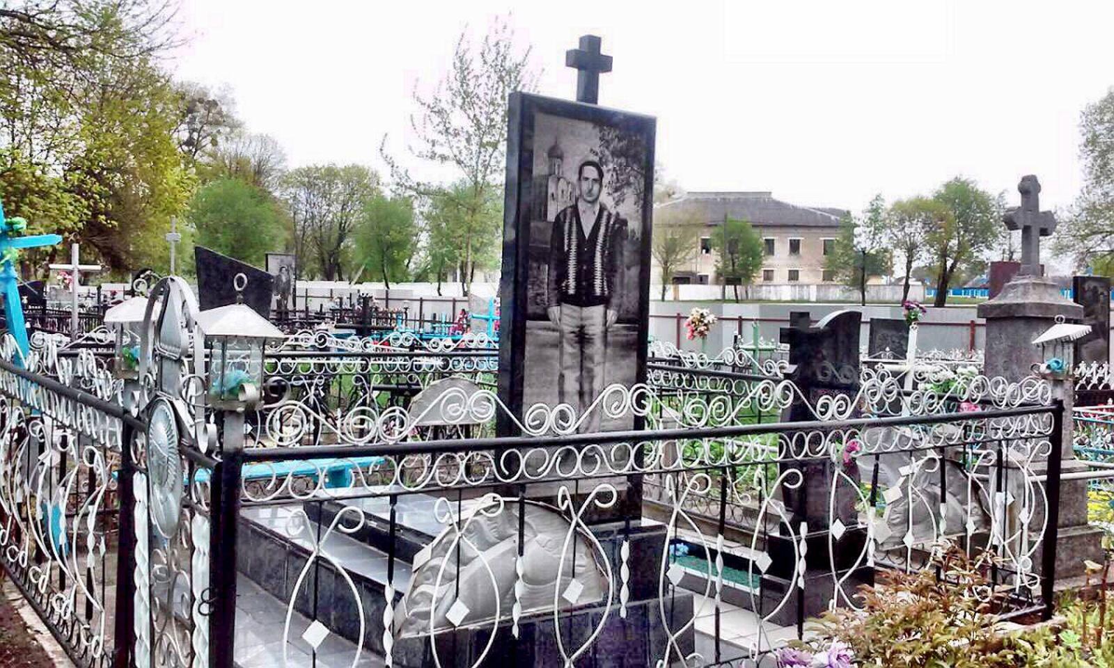 Orthodox grave cemetery in Turov Turau Belarus