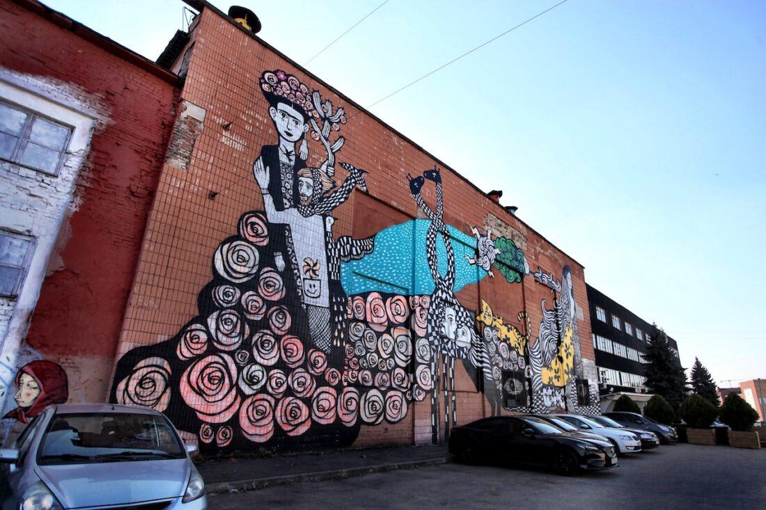 Minsk graffiti Belarus