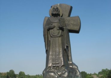 Photo | The monument to Kirill Turovsky in Turov Belarus