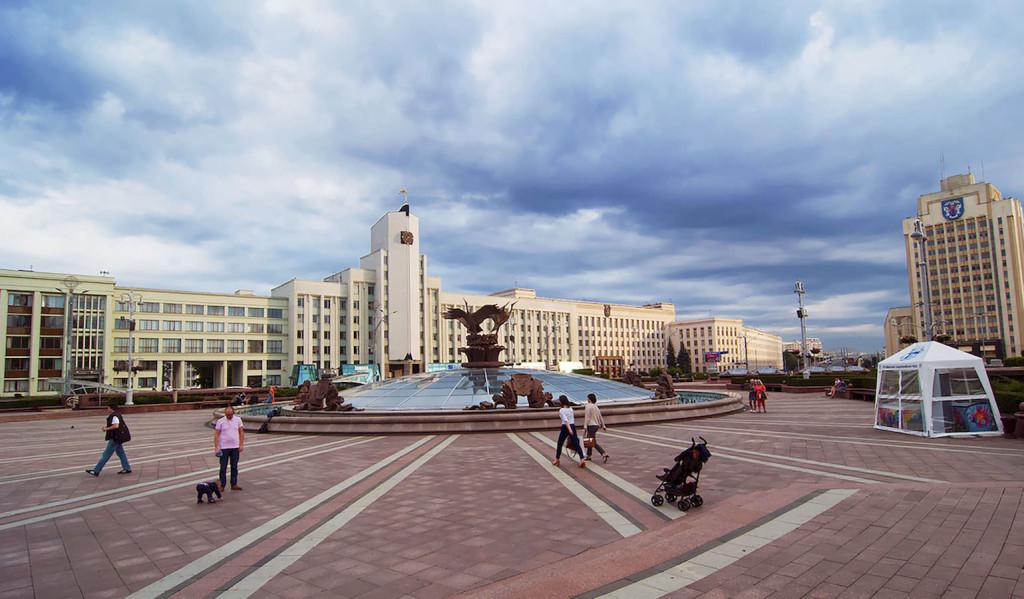 Independence square Minsk Belarus