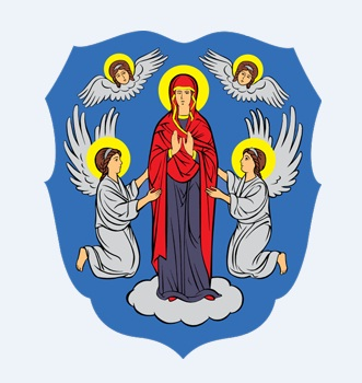 Coat of arms of the city Minsk Belarus