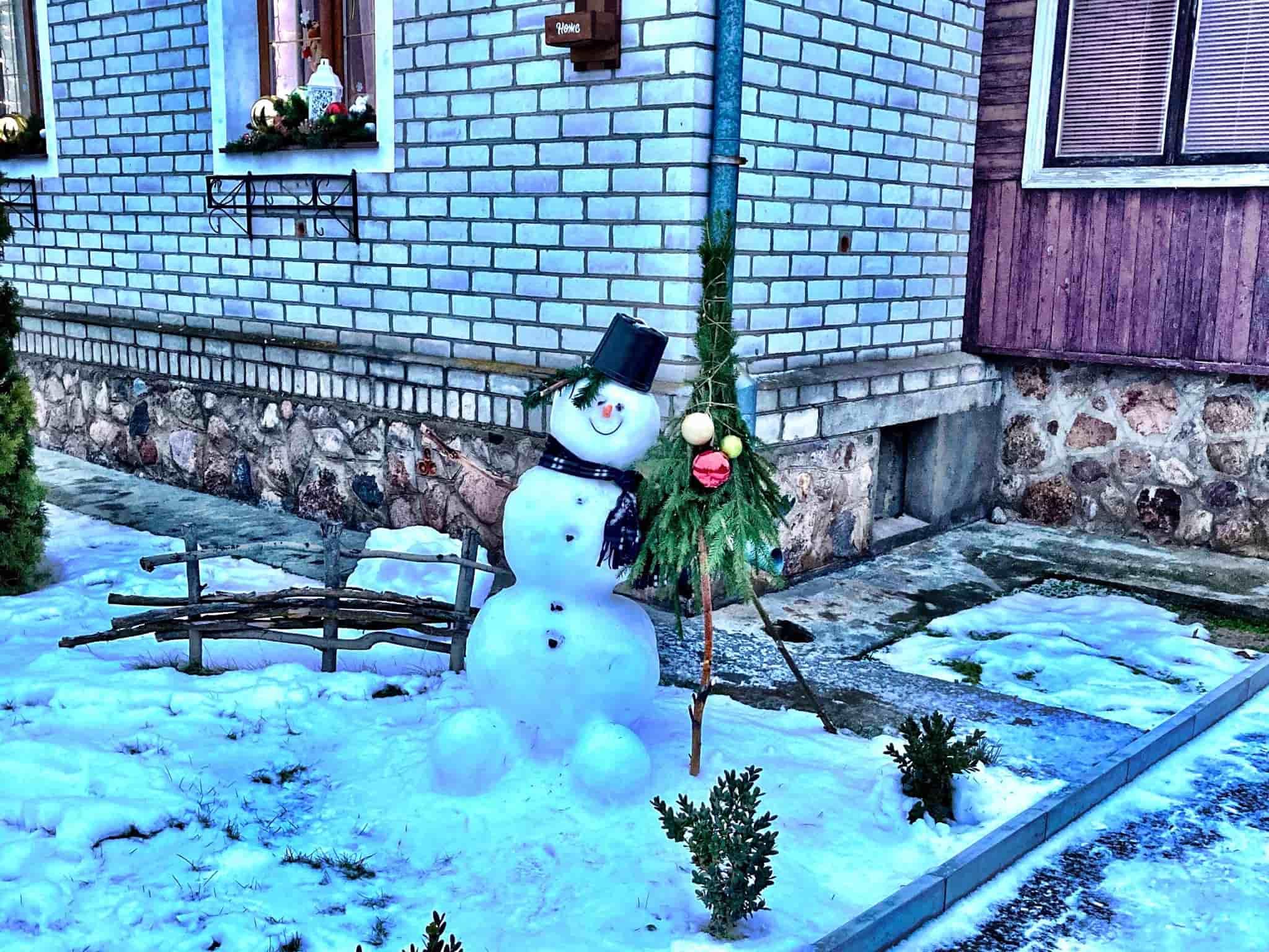Cheerful snowman Belarus