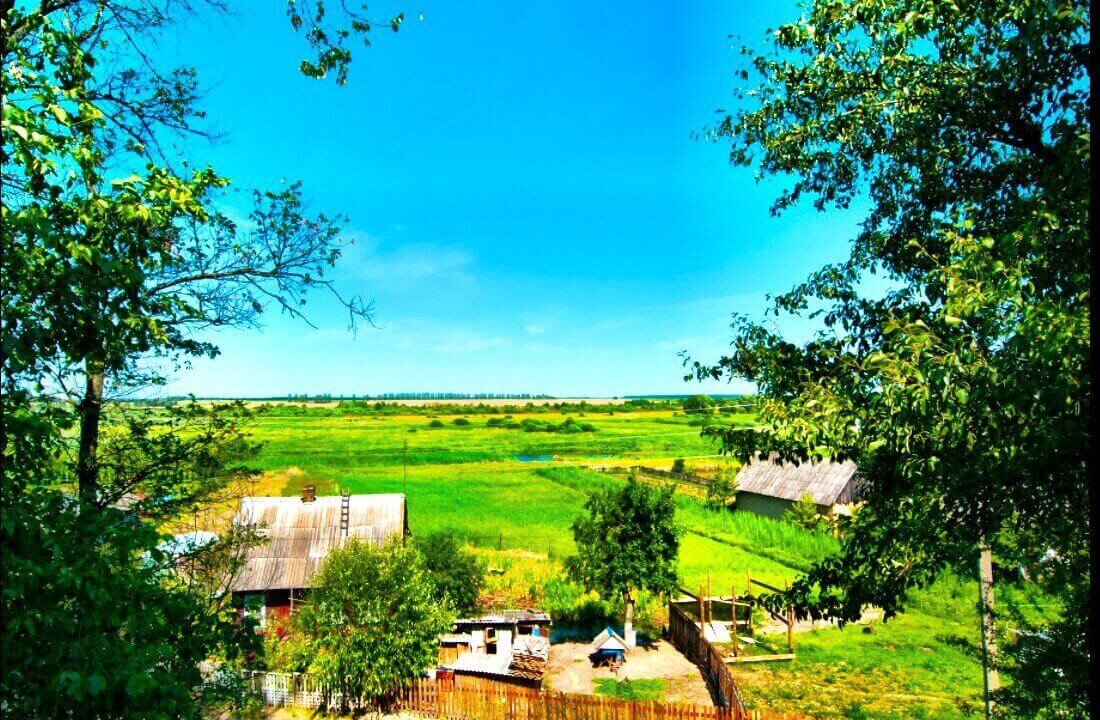 A vast expanse of space meadow Belarus